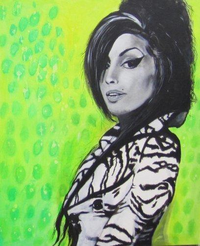Black - Porträt Malerei Amy Whinehouse