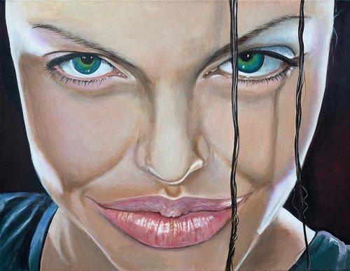 Movie - Porträt Malerei Angelina Jolie - Tomb Raider