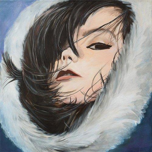 Music - Porträt Malerei Björk