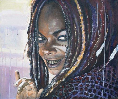 Movie - Porträt Malerei Calypso - Fluch der Karibik