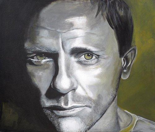 Movie - Porträt Malerei Daniel Craig