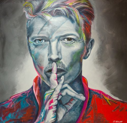 Music - Porträt Malerei David Bowie