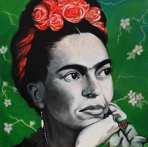 Black - Porträt Malerei Frida Kahlo