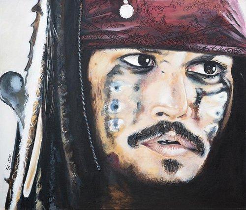 Movie - Porträt Malerei Jack Sparrow