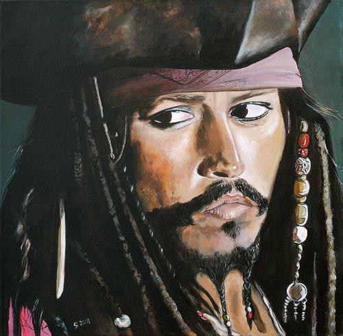 Movie - Porträt Malerei Captain Jack Sparrow - Fluch der Karibik