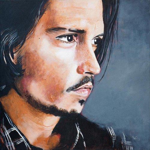 Movie - Porträt Malerei Johnny Depp
