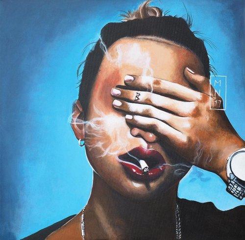 Music - Porträt Malerei Keith Ape