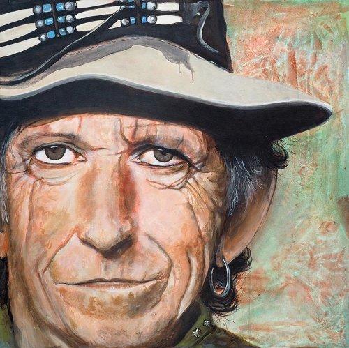 Music - Porträt Malerei Keith Richards