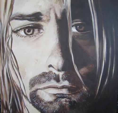 Black - Porträt Malerei Kurt Cobain