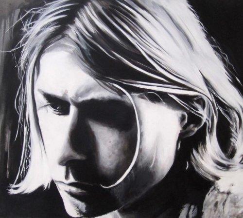 Black - Porträt Malerei Kurt Cobain 2