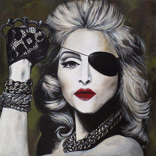 Music - Porträt Malerei Madonna - Girls gone wild
