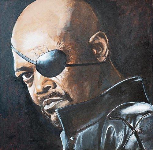 Movie - Porträt Malerei Nick Fury