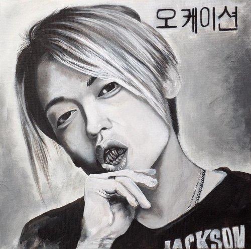 Black - Porträt Malerei Okasion