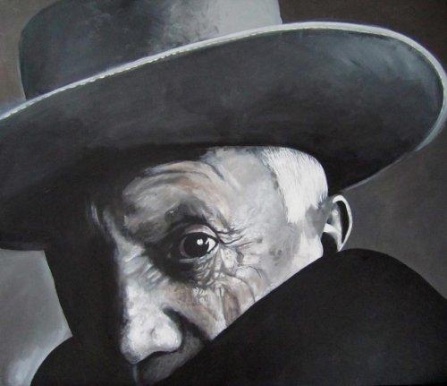 Black - Porträt Malerei Pablo Picasso