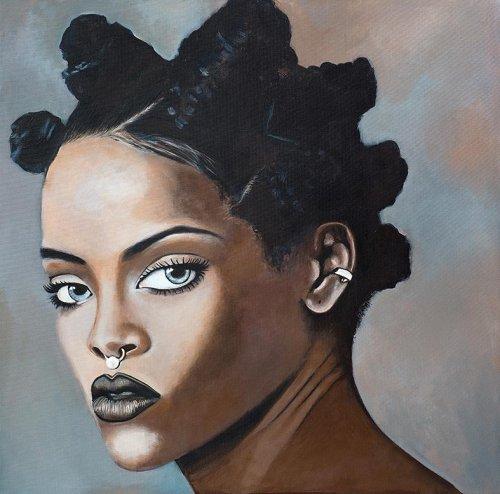 Music - Porträt Malerei Rihanna