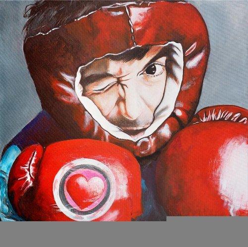 Movie - Porträt Malerei Robert Downey Jr. - Love boxing