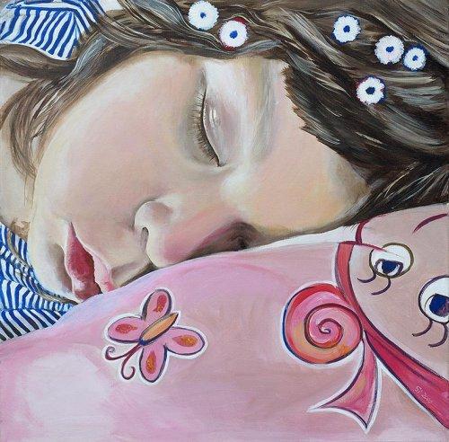 Pink - Porträt Malerei Smila