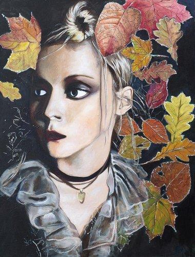 Movie - Porträt Malerei Uma Thurman - Autumn